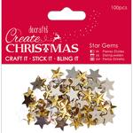Gold - Papermania Create Christmas Adhesive Gems 100/Pkg