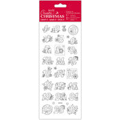 Advent Numbers - Papermania Create Christmas Colour In Stickers