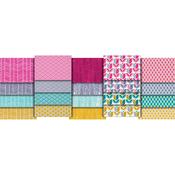 """20pcs - True Colors-Joel Dewberry 18""""X21"""" Fat Quarters"""