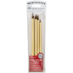 Bamboo Brown Hair 4/Pkg - Value Pack Brush Sets