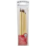 Bamboo Brown Hair 4/Pkg - Value Pack Brush Sets