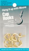 Brass - Cup Hooks 8/Pkg