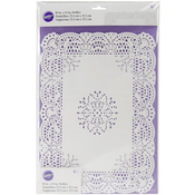 "10""X14"" Rectangle White 6/Pkg - Greaseproof Doilies"