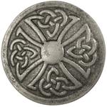 "Celtic Round - Concho Antique Silver Look Rivet Back 1"""