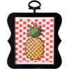 3 X3  14 Count - Beginner Minis Pineapple Counted Cross Stitch Kit Bucilla-Beginner Minis Counted Cross Stitch Kit: Pineapple. Beginner Minis are fresh and modern designs perfect for the beginner or a quick project. These can be used as gift tags or ornaments. This package contains one 3x3 inch frame, 14ct cotton white  aida cloth, floss, needle, chart and easy to follow instructions. Imported.