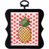 "3""X3"" 14 Count - Beginner Minis Pineapple Counted Cross Stitch Kit"