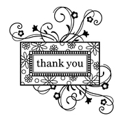 """Thank You Frame - Inkadinkado Clear Mini Stamps 2.5""""X2.5"""""""