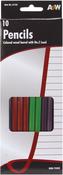 Assorted Colors - Wood #2 Pencils 10/Pkg