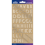 Kraft Marquee Foil Small - Sticko Alphabet Stickers