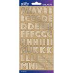 Kraft Marquee Foil Small - Sticko Alphabet Stickers