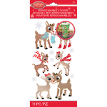 Rudolph & Clarice - Rudolph The Red Nosed Reindeer Stickers - Jolees