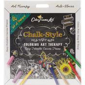 Black Be Happy - Adult Coloring Foldable Canvas Frame Assortment 4/Pkg