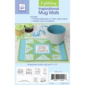 """Uplifting 8""""X10"""" - Inspirational Mug Mats"""