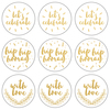 "Gold Let's Celebrate - Lucky Dip Foil Stickers 4""X4"" 3/Pkg"