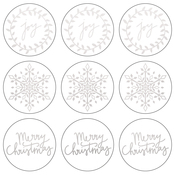 "Silver Joy - Lucky Dip Foil Stickers 4""X4"" 3/Pkg"