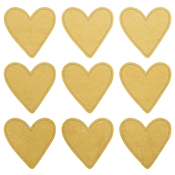 "Gold Hearts - Lucky Dip Foil Stickers 4""X4"" 3/Pkg"
