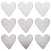 "Silver Hearts - Lucky Dip Foil Stickers 4""X4"" 3/Pkg"