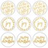 "Gold 'Tis The Season - Lucky Dip Foil Stickers 4""X4"" 3/Pkg"