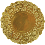 "Gold - Lucky Dip Foil Doilies 5"" Round 10/Pkg"