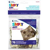 Brown - Simply Art Letter Tiles 75/Pkg