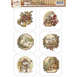 Holly Jolly - Find It Trading Yvonne Creations 3D Topper Sheet