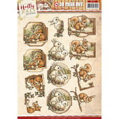 Holly Jolly Animals - Find It Trading Yvonne Creations Punchout Sheet