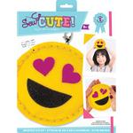 Emoji Heart Eyes - Sew Cute! Mini Felt Kit
