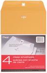 "Heavy Kraft - Mead Clasp Envelopes 9""X12"" 4/Pkg"