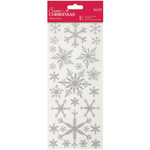 Silver Snowflakes - Papermania Create Christmas Glitterations Stickers