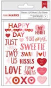 Valentines Phrase Rub-ons - American Crafts