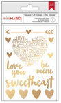 Valentines Gold Rub-ons - American Crafts