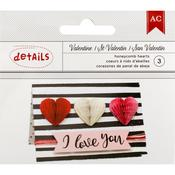 Heart Honeycombs - Valentines - American Crafts