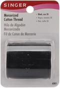 Black - Mercerized Cotton Thread 175yd