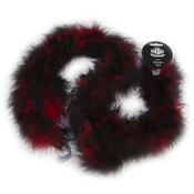 """Red & Black - Marabou Feather Boa Tipped Medium Weight 72"""""""