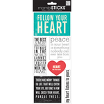 Follow Your Heart - Sayings Stickers