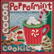 """5""""X5"""" 14 Count - Santa's Treats Winter Buttons & Beads Counted Cross Stitch K"""