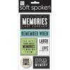 Memories Last Forever - Soft Spoken Themed Embellishments