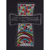 "9.5""X12.5"" 28 Count - I Can Do All Things Counted Cross Stitch Kit"