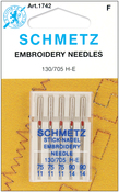 Sizes 11/75 (3) & 14/90 (2) - Embroidery Machine Needles