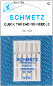 Size 12/80 5/Pkg - Quick Self-Threading Machine Needles