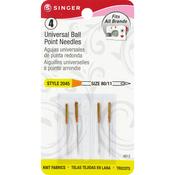 Size 11/80 4/Pkg - Universal Ball Point Machine Needles