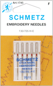 Size 11/75 5/Pkg - Embroidery Machine Needles