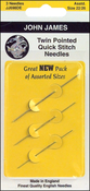 Size 28 3/Pkg - Twin Pointed Quick Stitch Tapestry Hand Needles