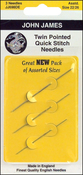 Size 22/26 3/Pkg - Twin Pointed Quick Stitch Tapestry Hand Needles