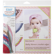 Baby Shower Crochet Edges - Edgit Piercing Crochet Hook & Book Set