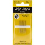 Size 11 10/Pkg - Gold'n Glide Applique Hand Needles