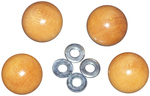 4/Pkg - Handi Clamp Wooden Ball Knobs