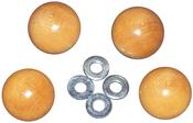 4/Pkg - Handi Clamp Wooden Ball Knobs