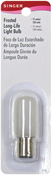 Push-In Base - Frosted Long Life Light Bulb 15W-120V