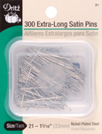 Size 21 300/Pkg - Extra Long Satin Pins